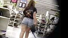Candid booty jeans shorts vpl wedgie thick legs and ass