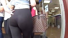 Spy and Voyeur hot butt girl legging pants