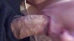 Throbbing fat cock swallowed