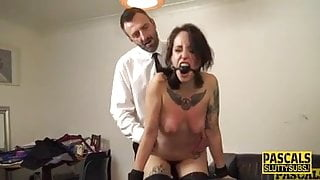 sub girl whipped by master