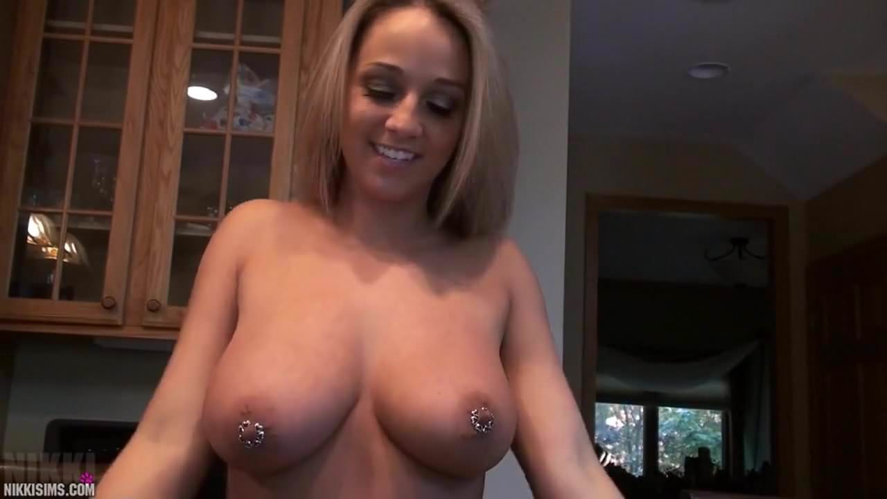 Nikki sims big tits car