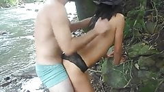 cuckoldwife outdoor fuck with stranger