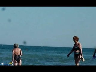 Grannies fucking on the beach - Sexy grannies spied on the beach
