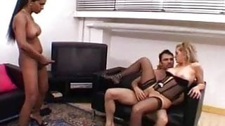 Bisexual Couple invite hot Shemale For Fuckaction