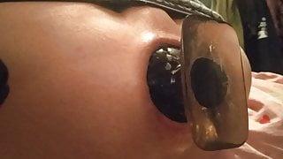 8cm plug inside my boypussy