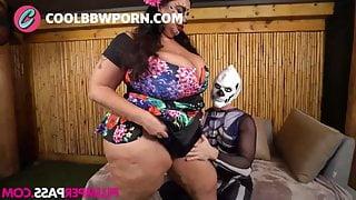 BBW Latina fucks on Halloween