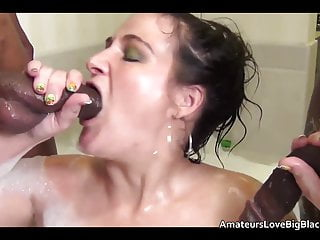 Pussy black cocks Trailer park skank takes black cocks in ass and pussy