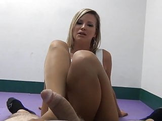 Footjob pantyhose fetish movies Pantyhose waitress footjob pov