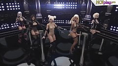 3D Shemale Party - Hot Trannies dancing and having Sex, Futa