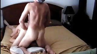 2 experienced old men fucking Milf