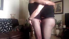 pantyhose buds boning in sheer black