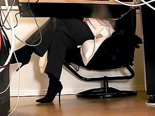 Diapers under pantyhose Secretaries under desk hidden cam masturbation