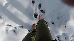 Walking Barefoot In The Snow