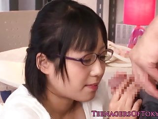 Innocent asian girlfriend Innocent asian firsttimer geek fucking in glasses