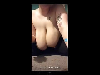 Huge swinging dick Huge white saggy tits swinging