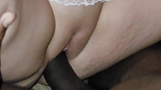 Wife takes the biggest black cock she's ever had