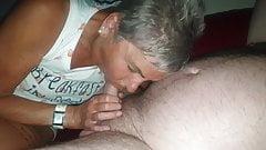 Grey hair Granny Dawn sucking me off