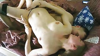 Dirty Talk – Skinny Milf Plays With Anal Toy, Sucks and Fucks