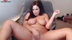 BBW college girl masturbates on webcam
