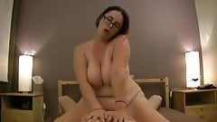 Bbw with glasses and big tits fucked in all positions