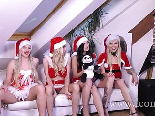 Cheap lingerie santa - A very happy christmas party in santa claus costumes