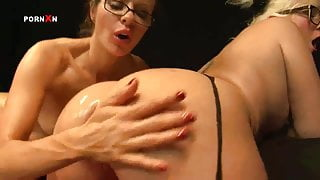 Mandy Cinn and Amica Bentley in Hot British Lesbian Fisting