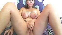Natural Saggy Tits Huge Areolas Plays With Pussy