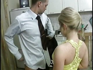 Girl fucked at party - Blonde girl fucked at kitchen by not brother