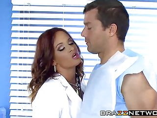 Busty doctor fucks patient at home - Busty doctor gets banged by her patient