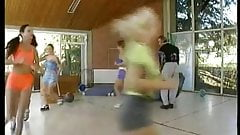 Hot young schoolgirls Laura and Judith fucked by the coach