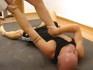 Mixed wrestling sexual - Mixed wrestling and foot fetish with a hot karate mistress