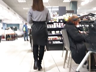 Latex skirt shoping Latvian vacations - sweet ass in leather skirt
