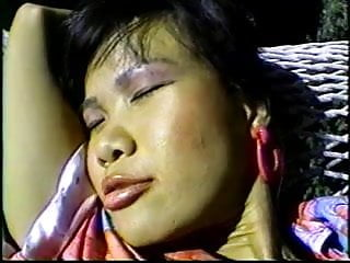 Hammock and sex Asian chick masturbates on hammock before getting fucked