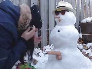 Sexy snowman pictures Teen gets fucked by snowman outdoor