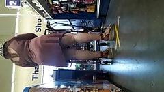 PAWG clingy dress tight panties VPL presentation. Prt2