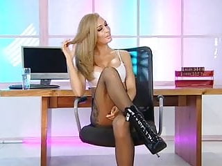 Blonde girls non nude Webgirl - lock boots - non nude