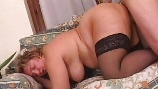 Mature BBW seduces a younger man