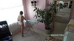 Czech teen Kecy Hill - Naked ironing