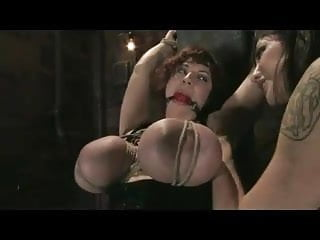 Huge tied tits Bdsm huge tits tied