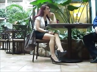 Voyer adult beach videos Pantyhose legs voyer nice