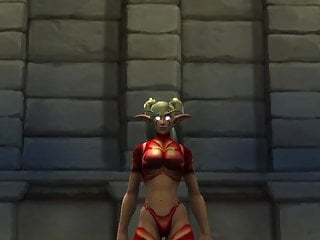 Naked lyric dancing world - Night elf female sexy dance world of warcraft