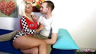 German Aunt teach Virgin Nephew how to Fuck on Holiday Trip