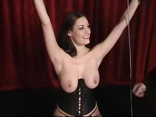 Nuk latex nipple shield - Slut in leather loves being restrained and having her nipples clamped