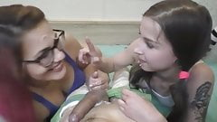 2 girls share facial