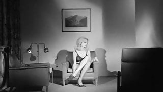 Busty Blonde's Intimate Time with Visitor (1960s Vintage)