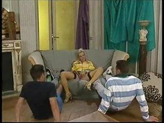Ashton yellow sex Georgette neal threesome in yellow stockings