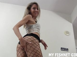 Outstanding looking nude women These fishnets make my 19yo ass look outstanding joi