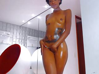 Sexy dripping Sexy black latina dripping with oil