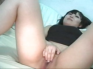Asian playing pussy - Japanese girl playing with pussy and sucking black cock