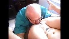 Grandpa licks pussy